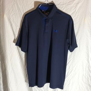 Men's Under Armour blue golf polo size Large